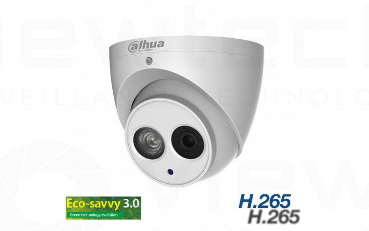 Dahua 4MP Turret Dome H265