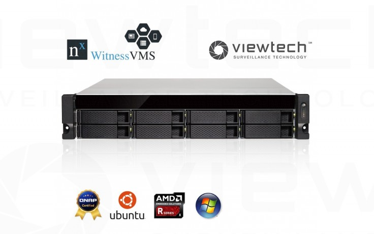 Nx Witness 8 Bay Server with 4CH NX Starter Pack Combo