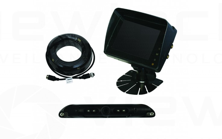 "Viewtech 5"" LCD Reversing System with Numberplate Cam"