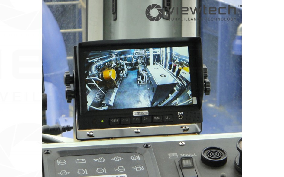 "Viewtech 7"" monitor in tug boat"