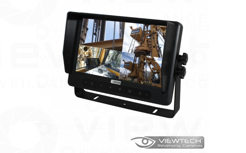 "Viewtech 9"" Quad Vehicle Monitor Touch Screen"