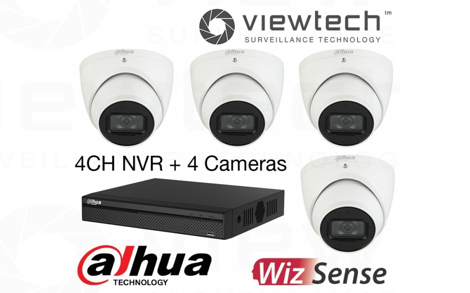 Dahua 4CH NVR 4 AI Camera Boxed Kit