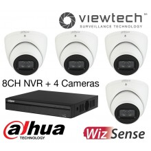 Dahua 8CH NVR 4 AI Camera Boxed Kit