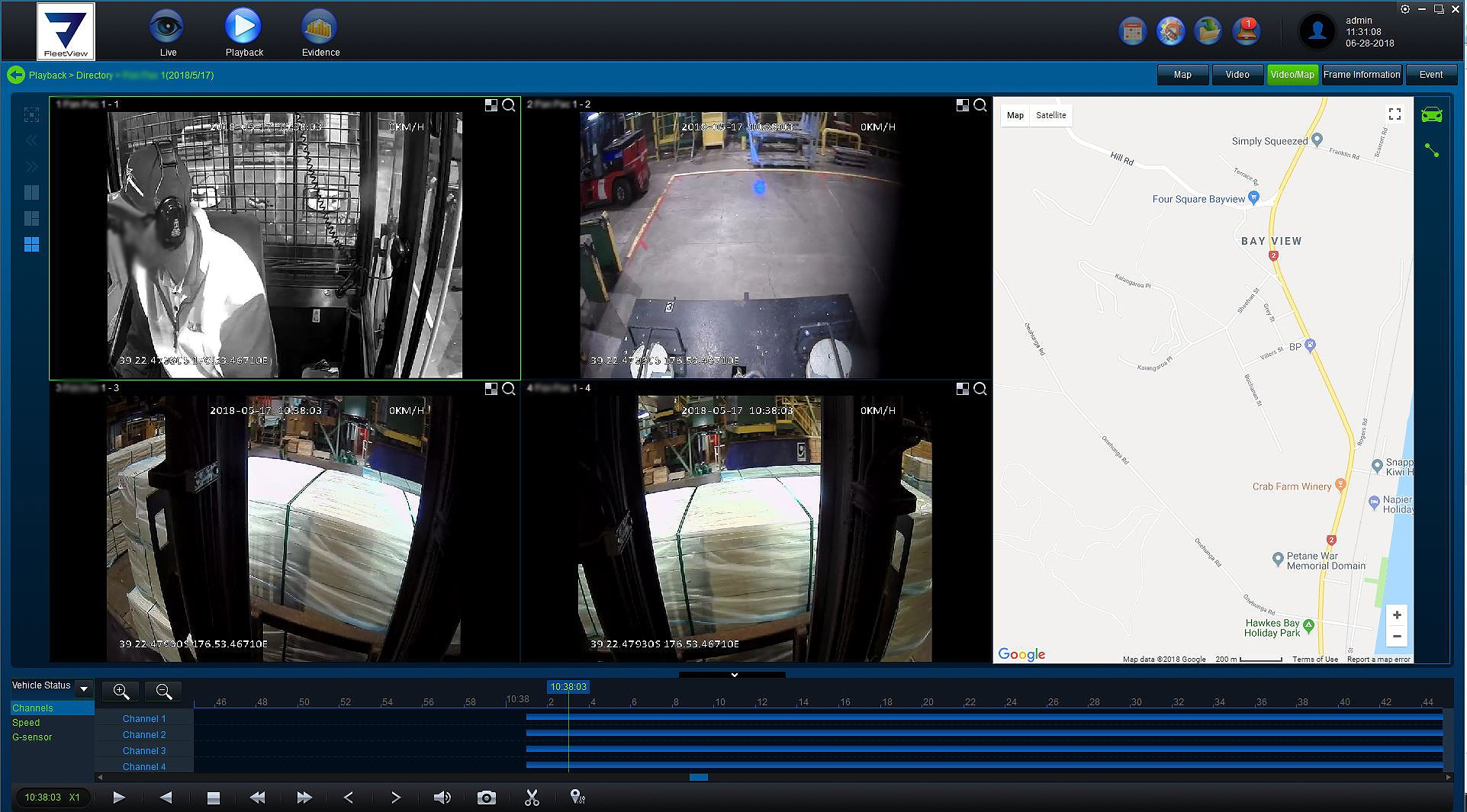 Viewtech Fleetview Forklift camera system